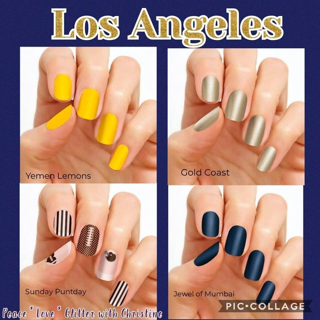 Pin By Melisssa Silvia On Nails In 2020 Football Nails Color Street Nails Color Street
