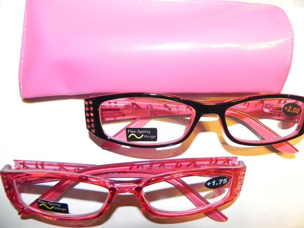 e2f34247e2736 Breast Cancer Awareness reading glasses available with either pink frames  or black. Both with black arms and pink ribbons . Pink Ribbons