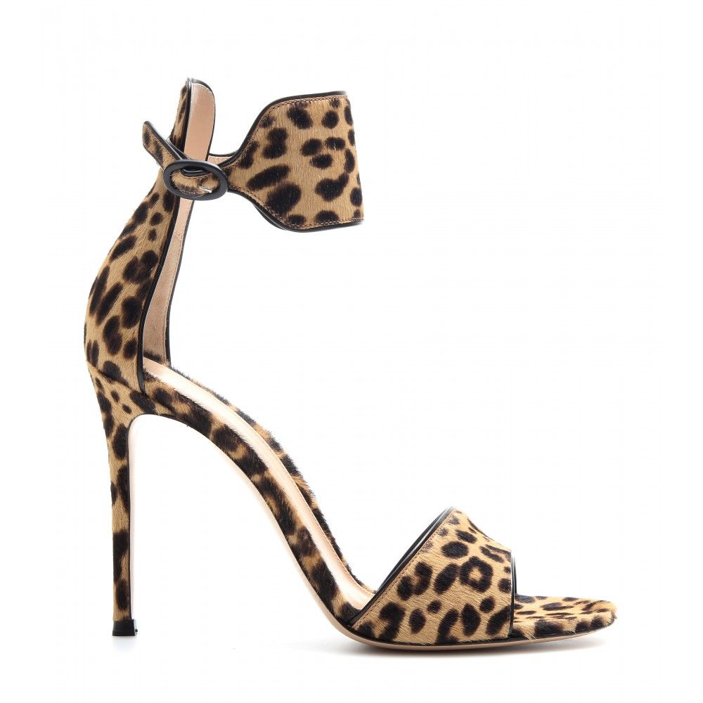 6821ba4e300a Gianvito Rossi / Leopard-print pony hair sandals - high heel - sandals -  shoes - Luxury Fashion for Women / Designer clothing, shoes, bags