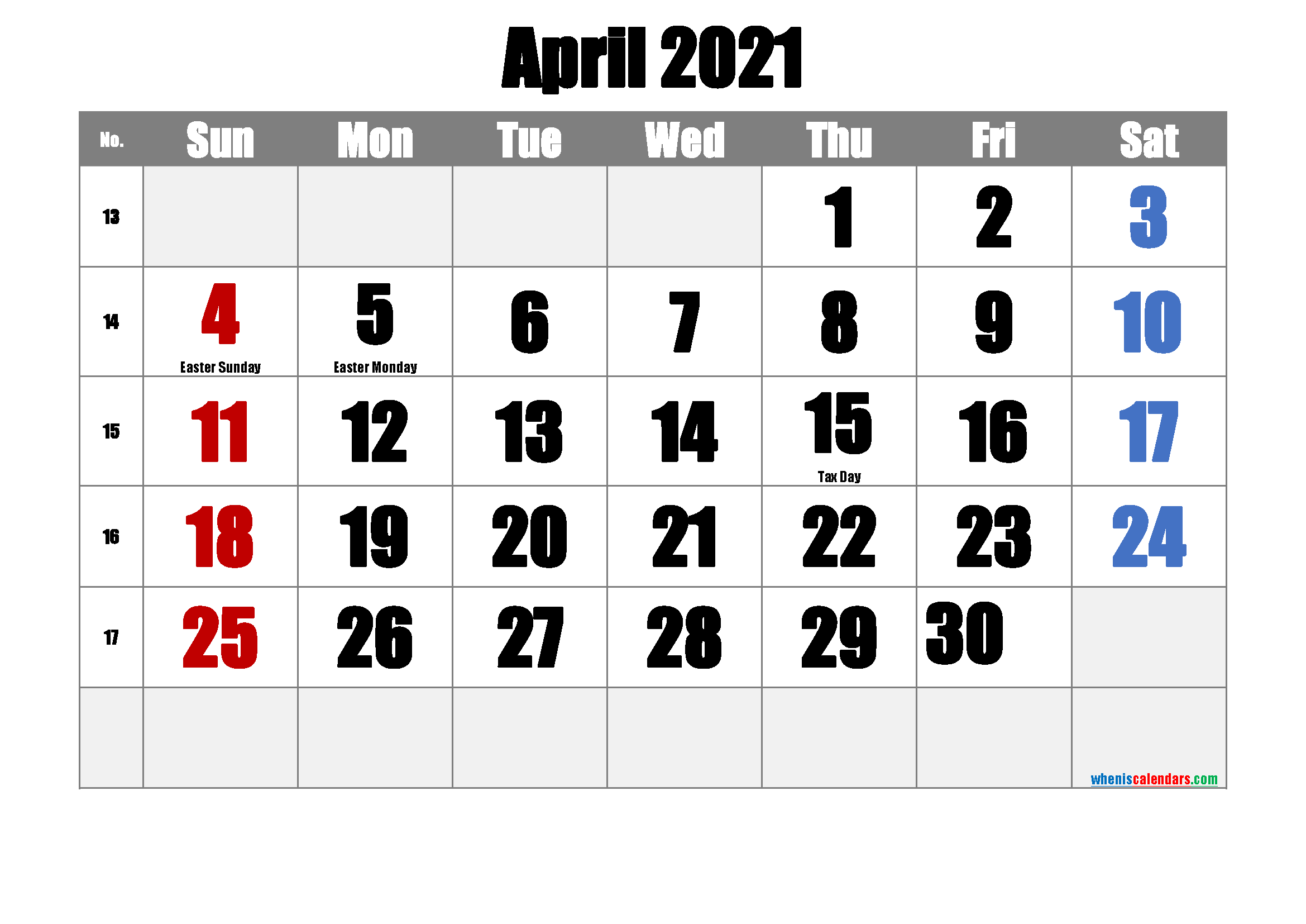 Free Printable April 2021 Calendar In 2020 Printable Calendar Template Calendar Printables Printable Calendar July