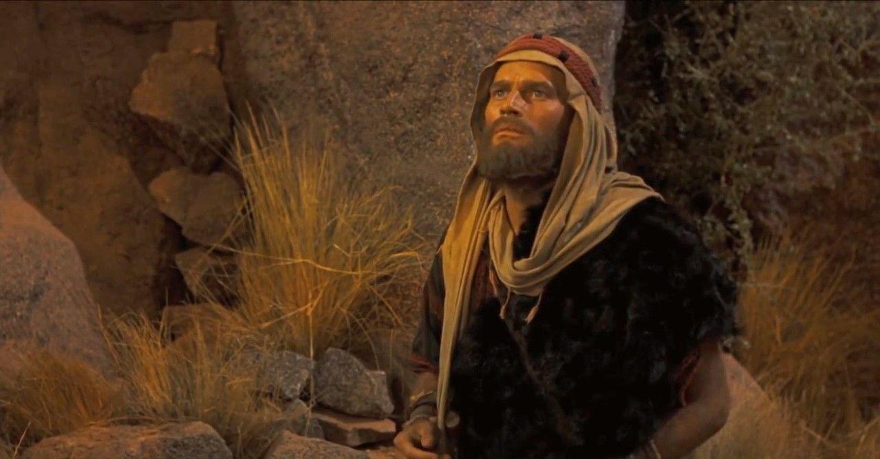 Moses Ten Commandments Movie Charlton Heston as Mos...