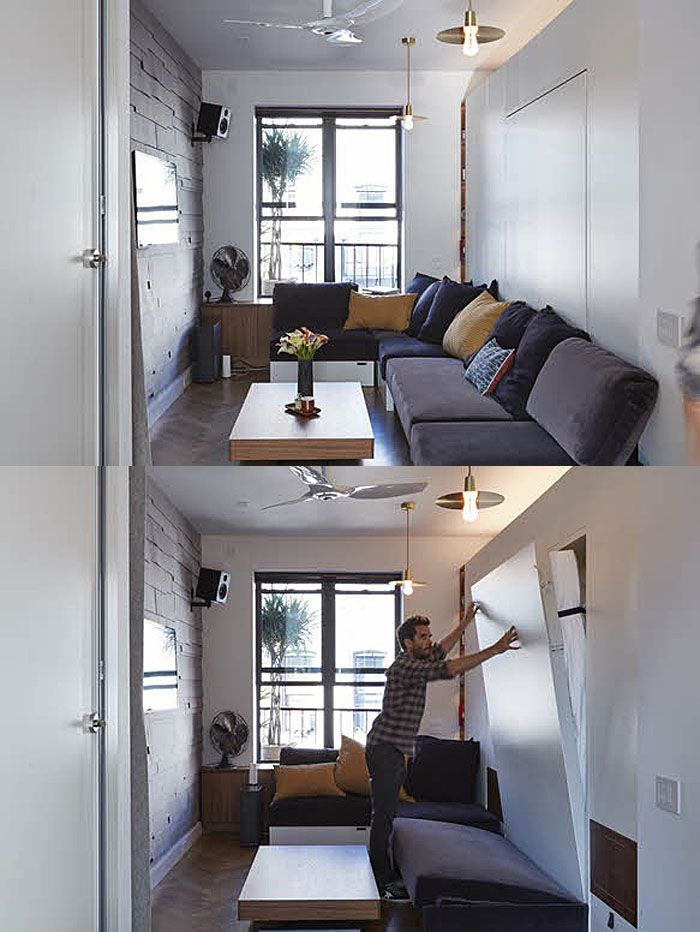 350 Square Foot Micro Apartment With Multi Functional Rooms   New York City