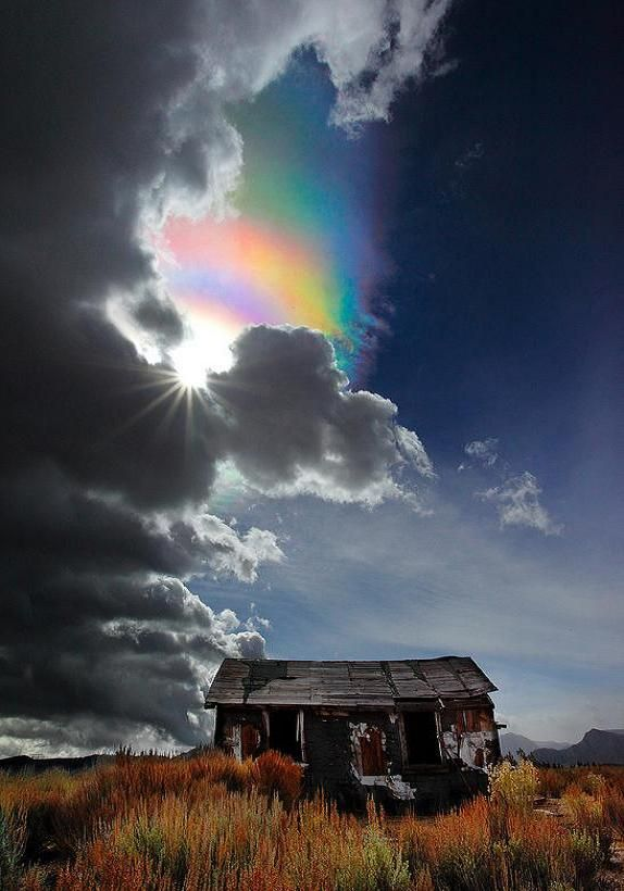 The Ice Crystal Rainbow ~ Iridescent Cloud, Pacheco