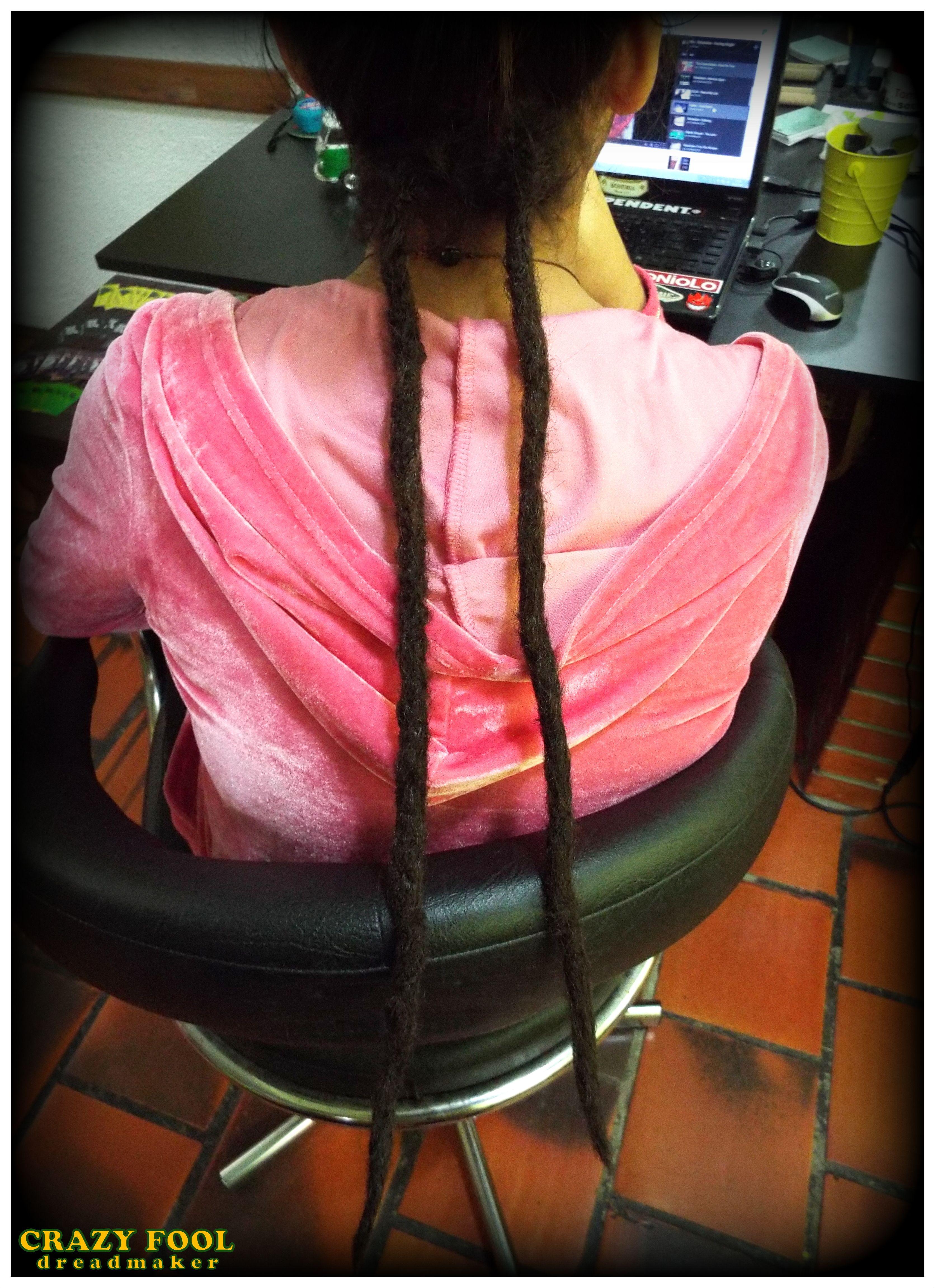 Dreads nos cabelos de Maria Eduarda de Porto Alegre - RS