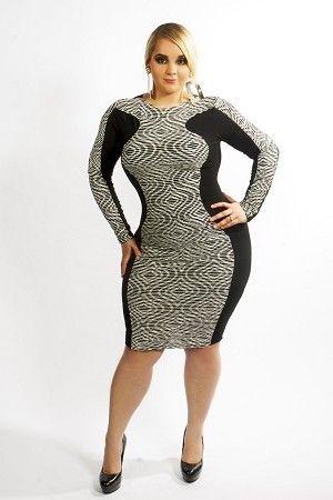 Eva Hourglass Body-Con Dress for us big booty judys ...