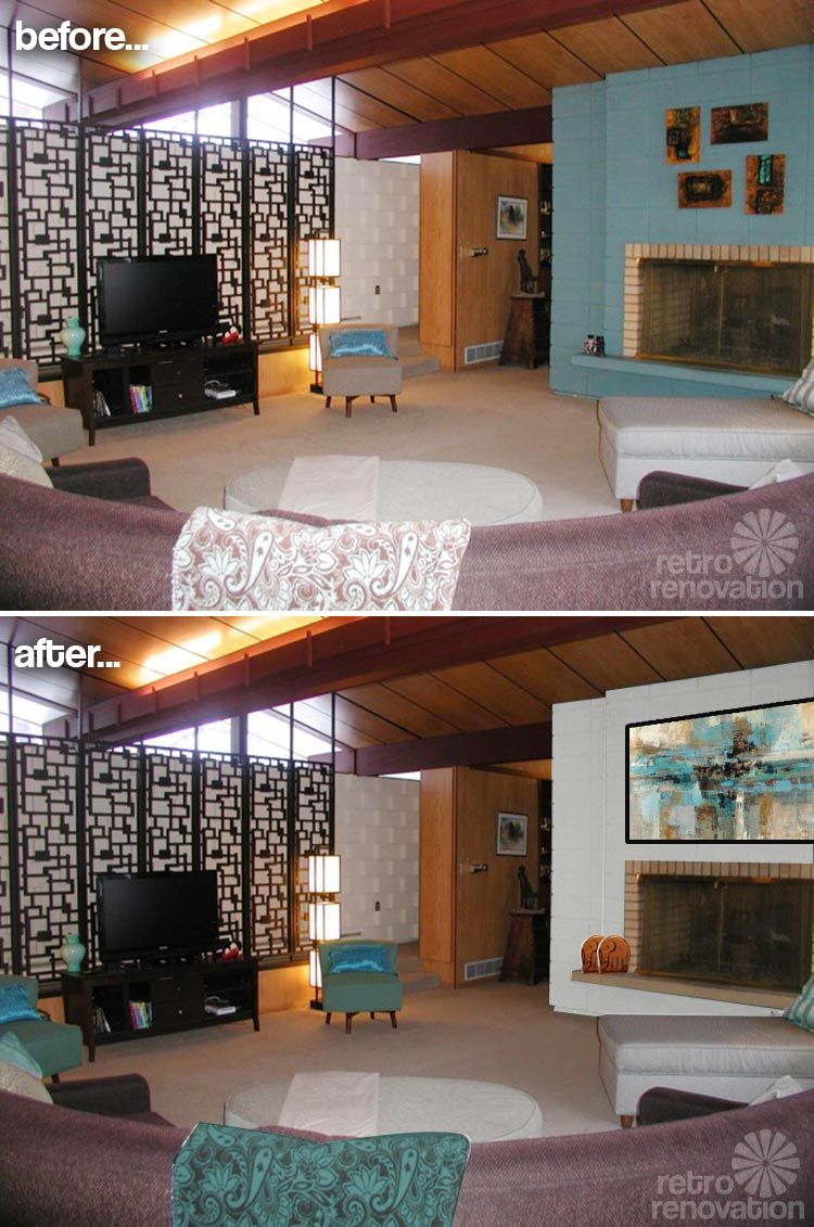 Best Paint Colors For A Fireplace In Kathy S Mid Century Modern 640 x 480