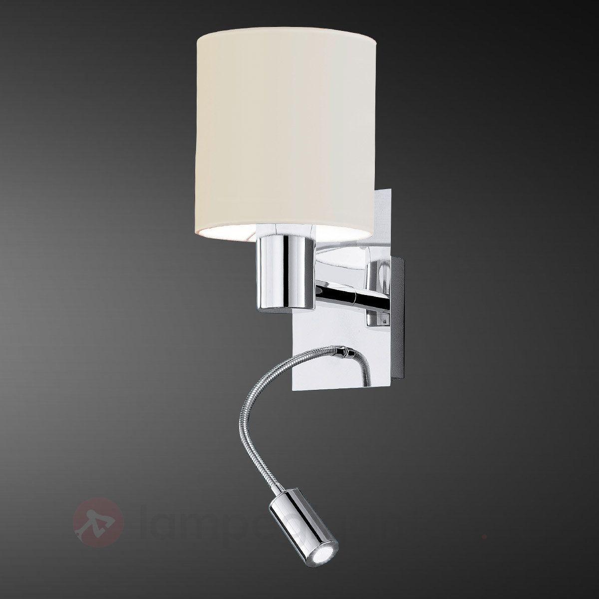 Moderne HALVA væglampe med LED-læselys 3001774