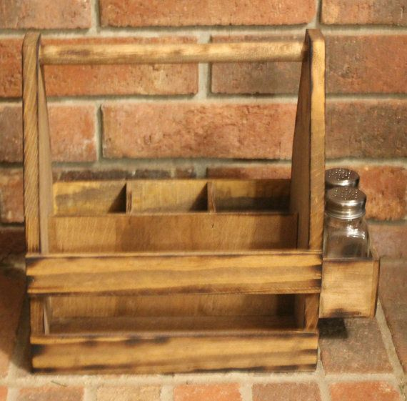 rustic napkin holder and condiment caddy homestead traditions