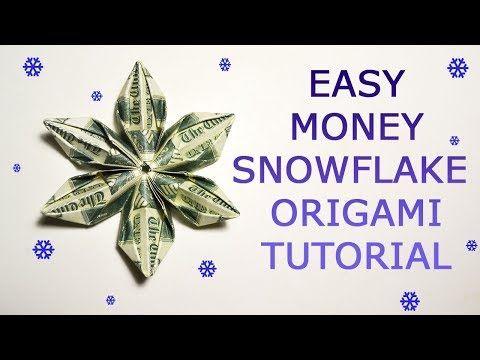 Photo of Easy Money Snowflake Origami Dollar Tutorial DIY Folded No glue
