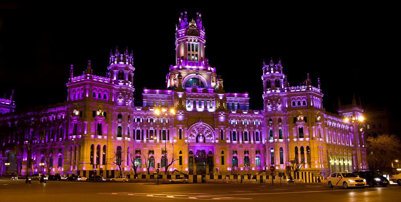 Palacio De Cibeles Madrid Colourful Buildings Shades Of Purple Empire State Building