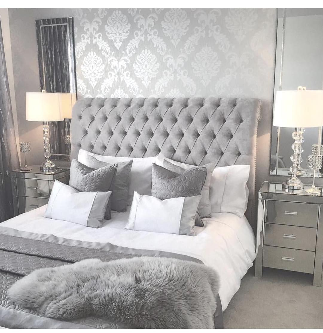 Personalize Your Home Decoration With Pretty Digital Printables In 2020 Simple Bedroom Design Luxurious Bedrooms Silver Bedroom