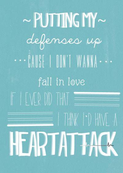 Heart Attack Demi Lovato Demi Lovato Lyrics Love Songs Lyrics My Love Song