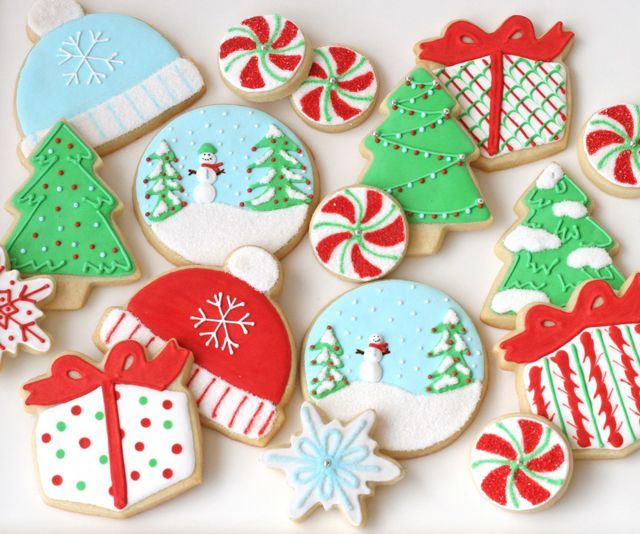 Miniature Christmas Cookies and Recipe ~ Sweetopia | Decorated ...