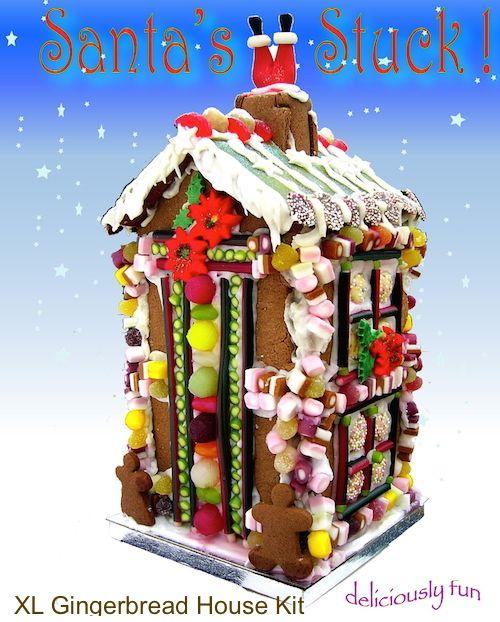 Christmas Gingerbread House Kit.Christmas Extra Large Edible House Kit Fun Family Activity