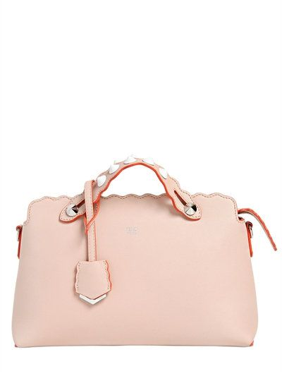 779a4ad5340f FENDI SMALL BY THE WAY SCALLOPED LEATHER BAG