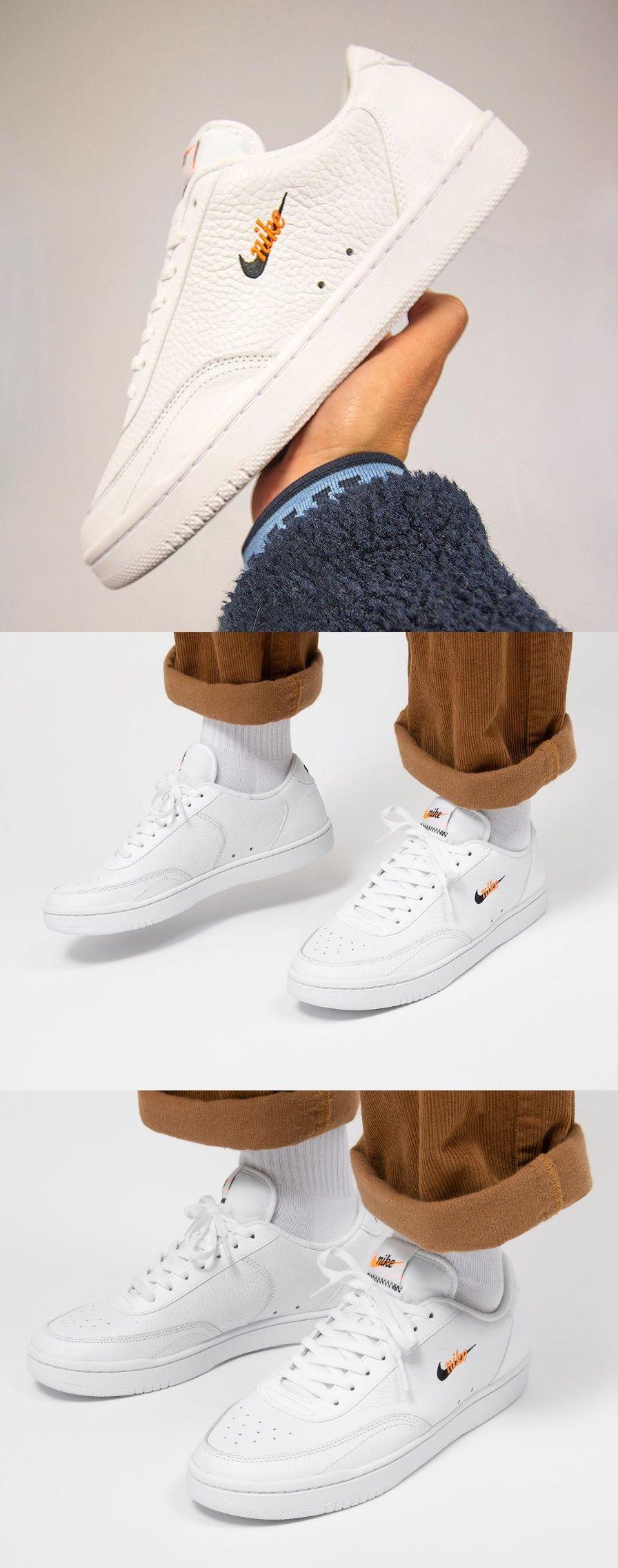 Nike Court Vintage Premium 2020 White Total Orange In 2020 Vintage Sneakers Street Wear Urban Sneakers