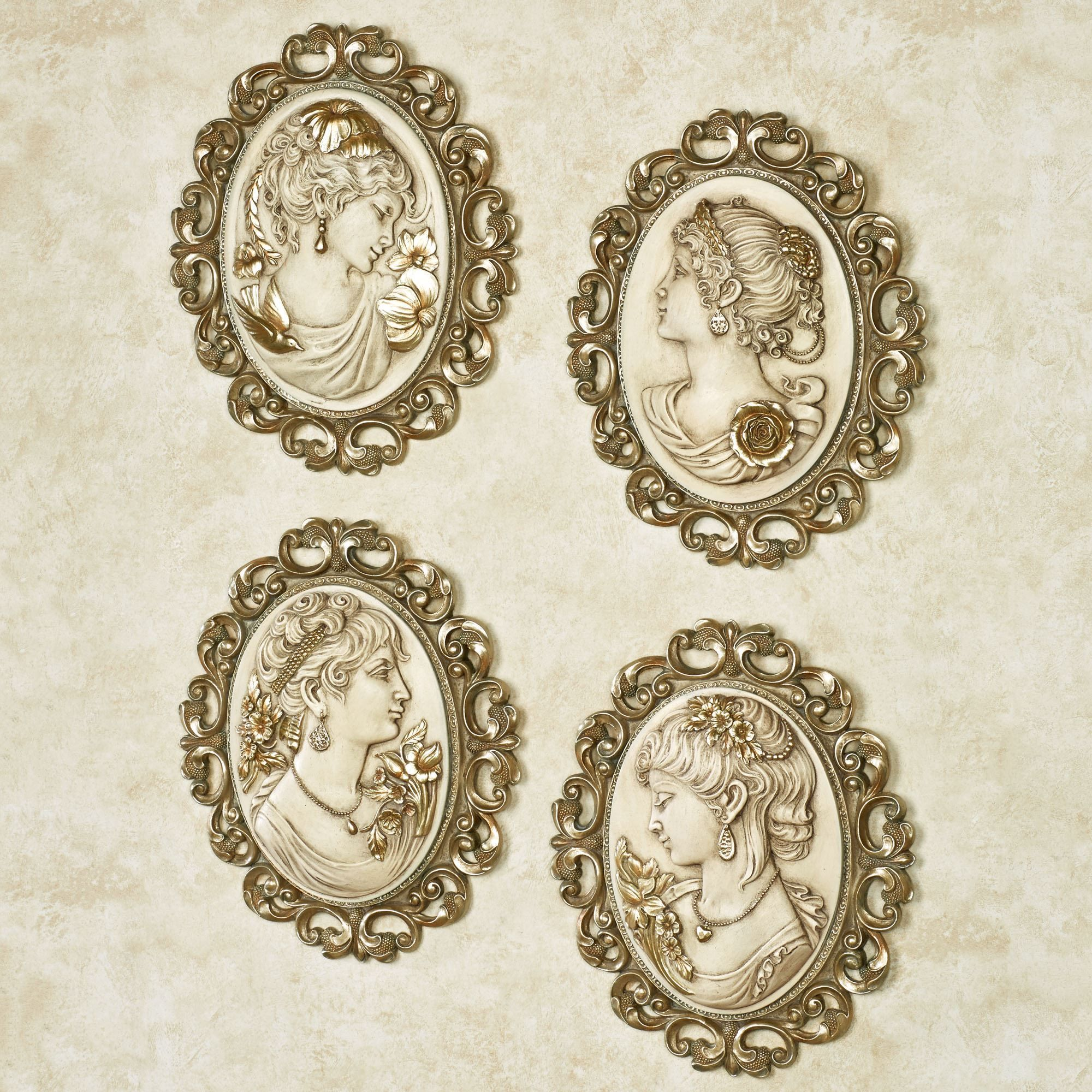 Victorian ladies cameo wall plaque set wall decor pinterest victorian ladies cameo wall plaque set amipublicfo Gallery