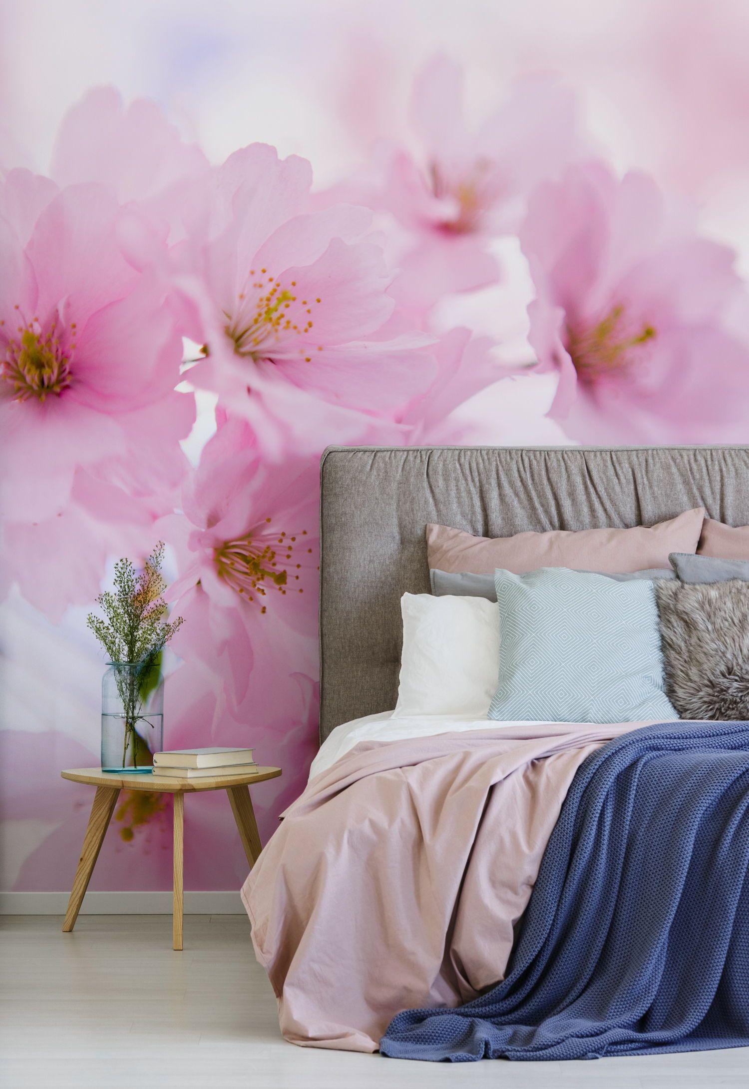 Japanese Cherry Tree In Blossom Wallpaper Mural Wallsauce Eu Decor Japanese Cherry Tree Home Decor