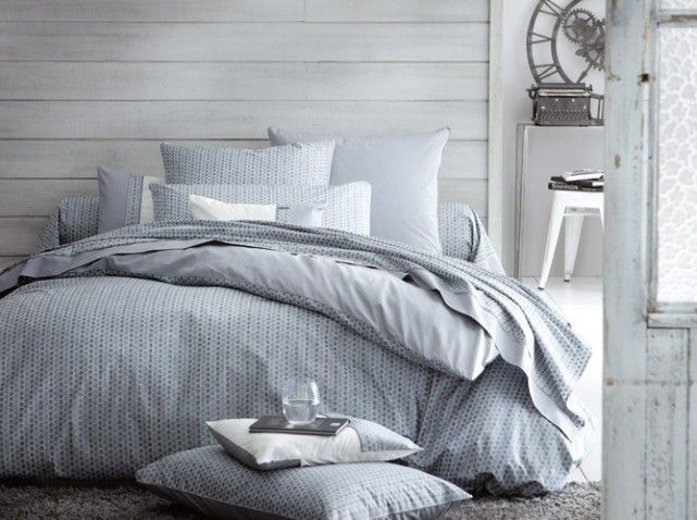 housse de couette bleu gris linge de lit pinterest couette bleue bleu gris et housses de. Black Bedroom Furniture Sets. Home Design Ideas