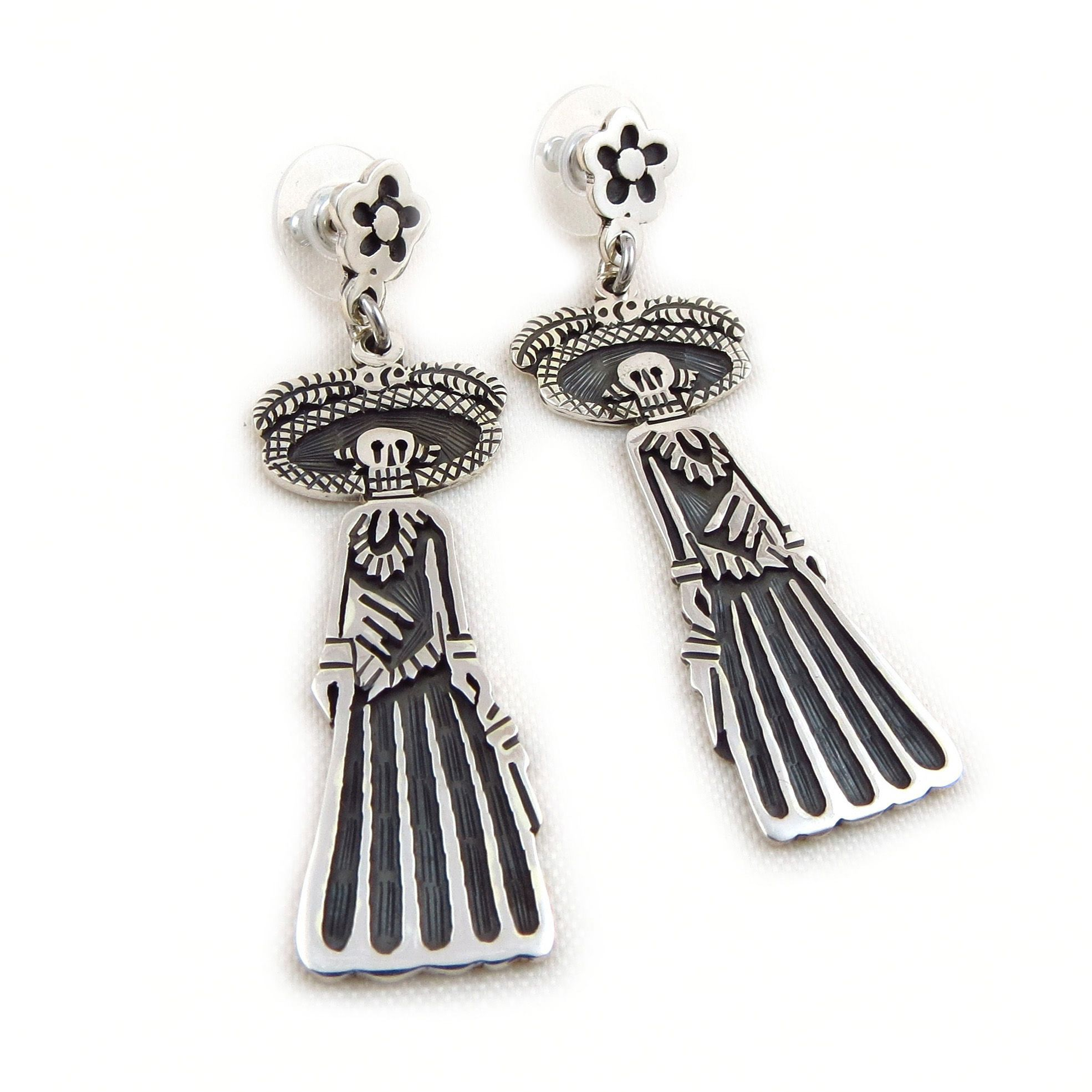 e53151c24150 Mexico Day of the Dead 925 Sterling Taxco Silver Catrina Maria Belen ...