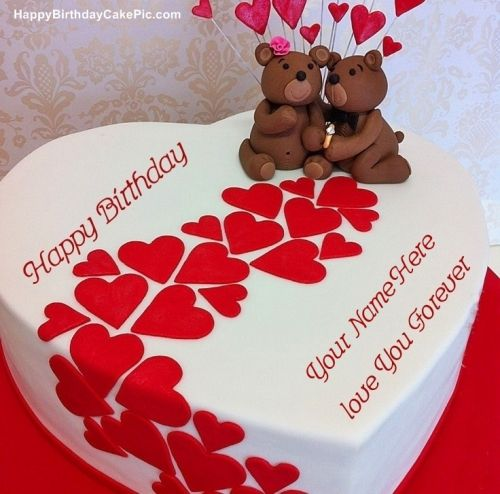 Heart Birthday Wish Cake For AKASH With Name Happy Download Photos Free Picture