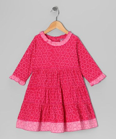 Take a look at this Pink Flower Dress - Toddler by Shu-Shi on #zulily today!