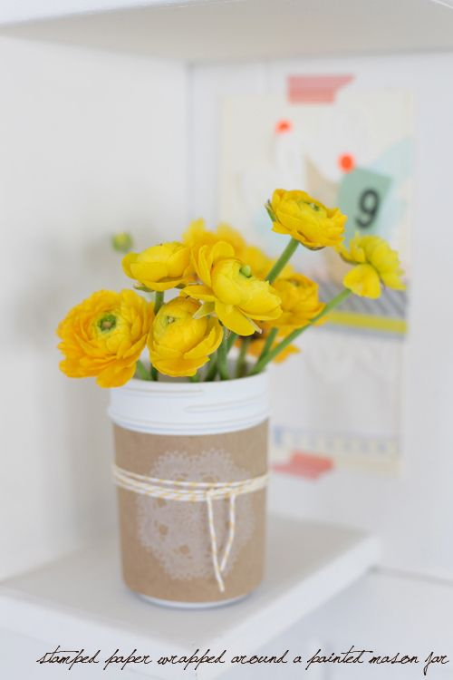 a creative mint: Lemon Yellow, Grey and Kraft Paper