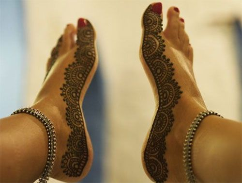 Side Feet Mehndi Designs : Top 50 foot henna designs mehndi and hennas