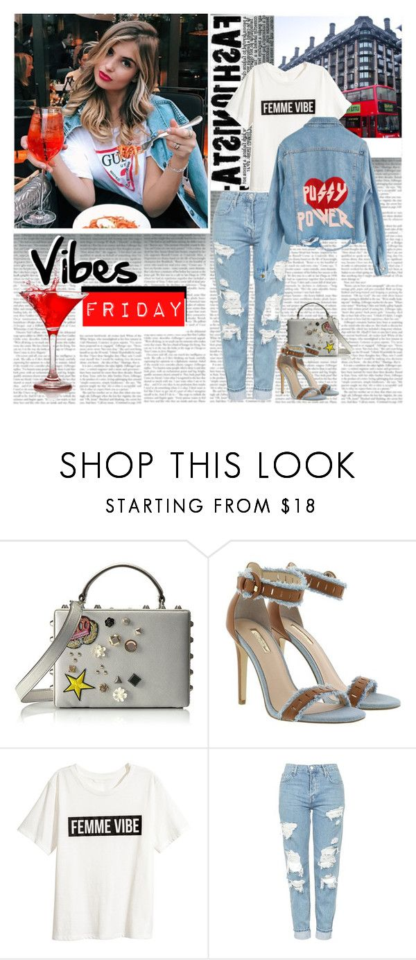 """Friday Vibes"" by stylepersonal ❤ liked on Polyvore featuring GUESS, Topshop, fashionista and TrendAlert"