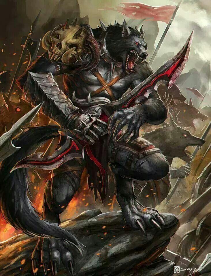 Werewolf warrior | Werewolves | Werewolf, Werewolf art ... Werewolf Warrior Art