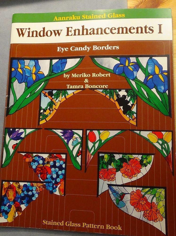 Aanraku Window Enhancements I Eye Candy Borders, stained glass pattern book #Aanraku