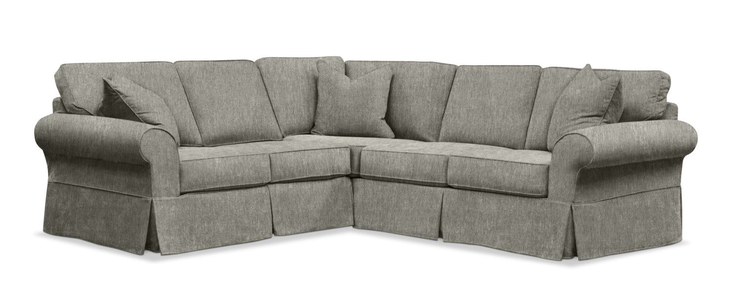 Sawyer 2 Piece Slipcover Sectional Sofa with Left-Facing ...