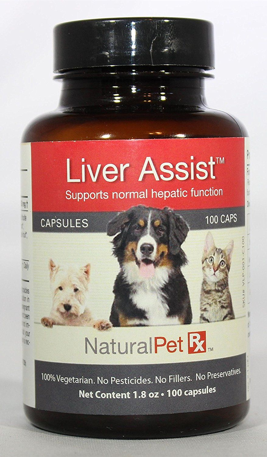 Natural Pet RX Liver Assist Hepatic Function Support (100