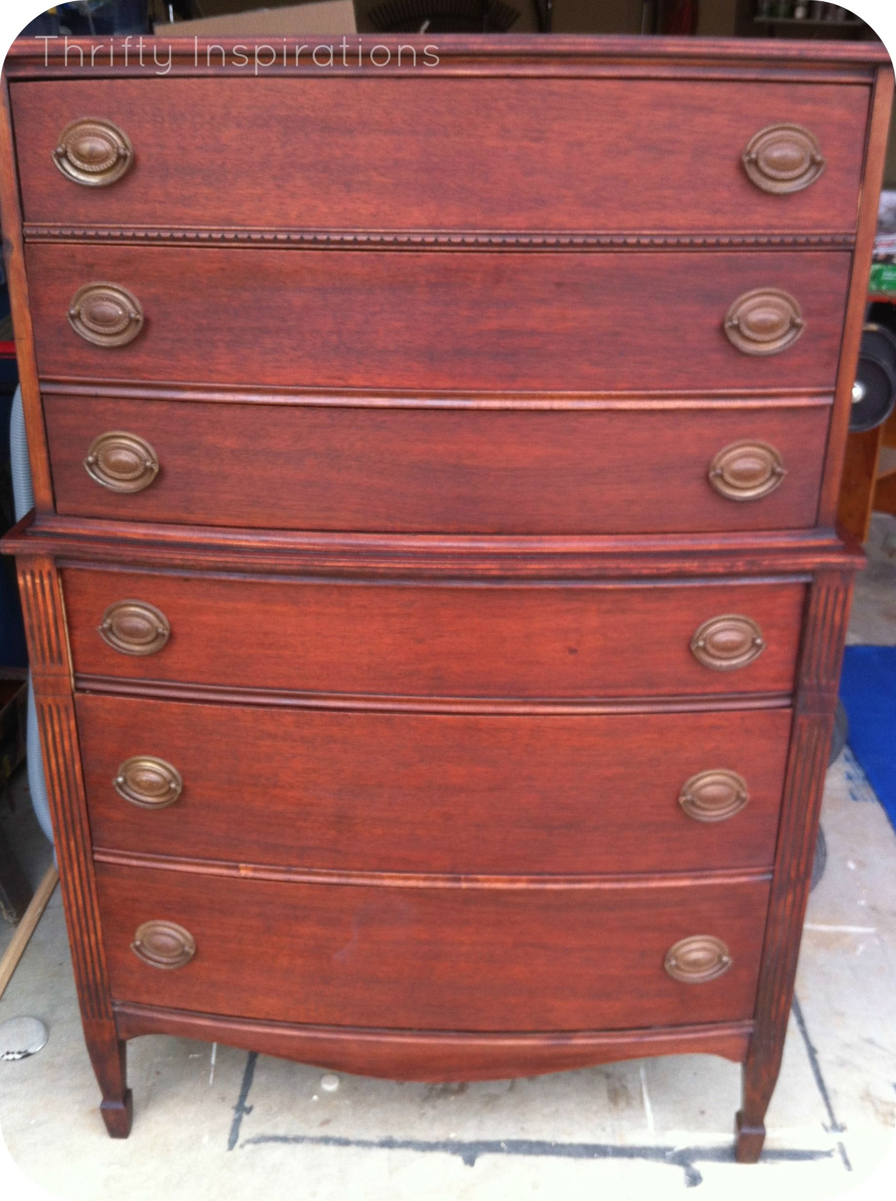 Lovely Dixie Furniture Co. Chest On Chest 1940s