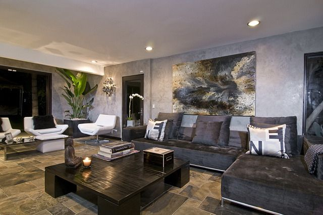 kyle richards house modern luxury living room