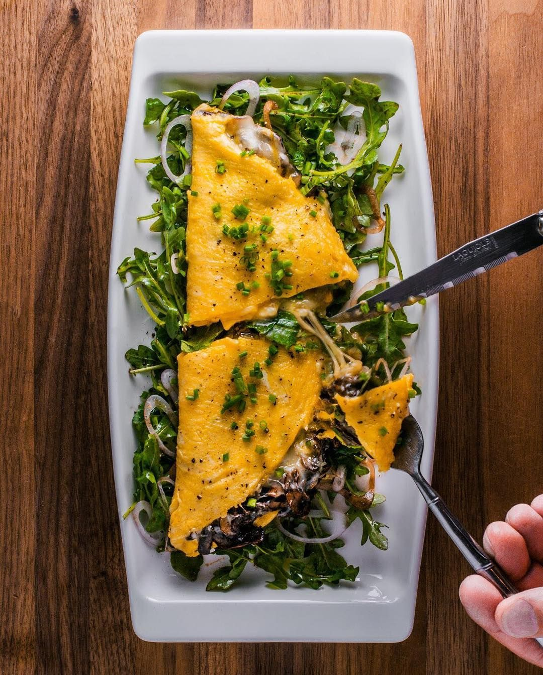 Bask In The Glory Of This Delightful French Omelette With Baby Bella Mushrooms And Fontina French Omelette Clean Eating Recipes Food Network Recipes
