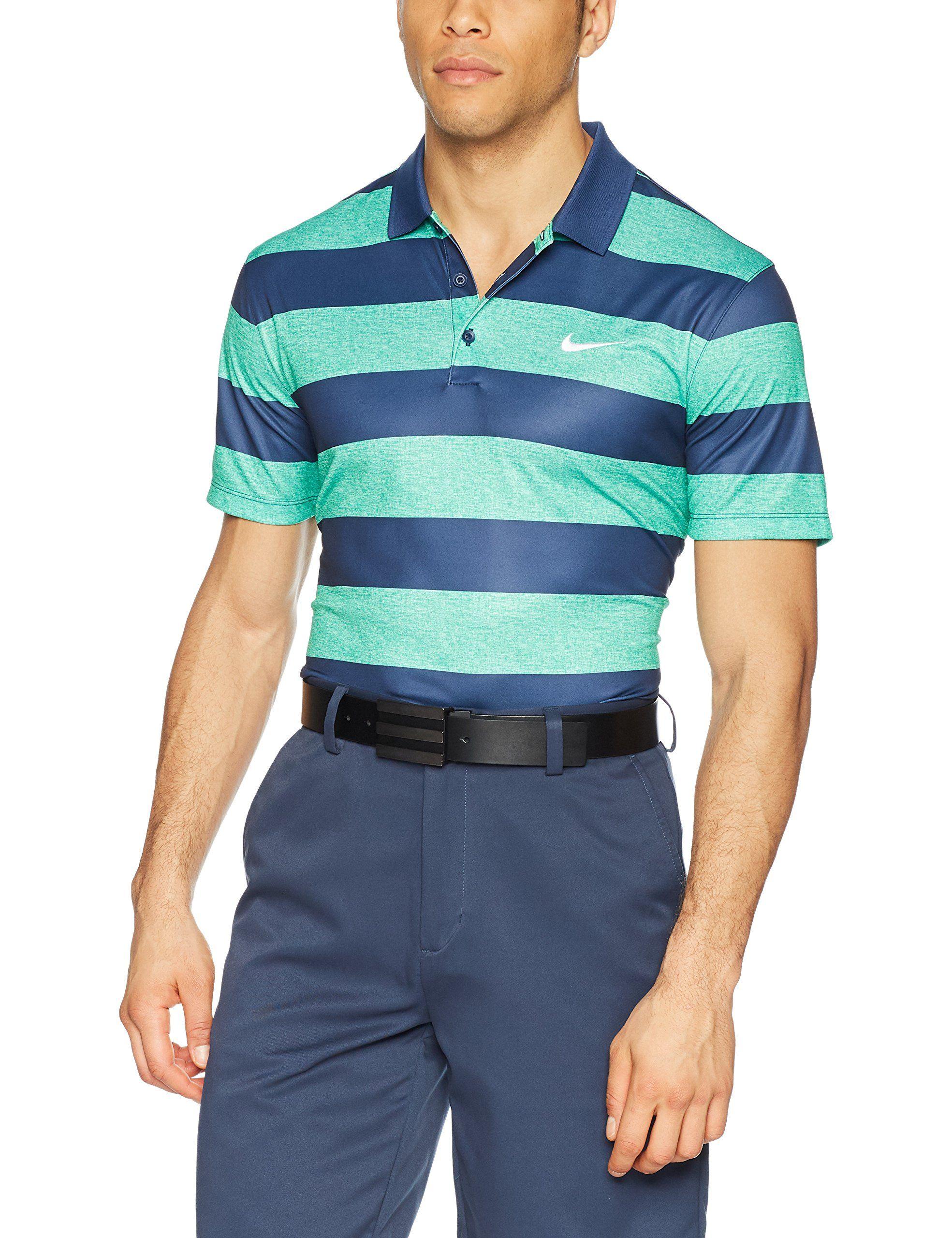 Men golf clothing nike mens golf victory bold stripe
