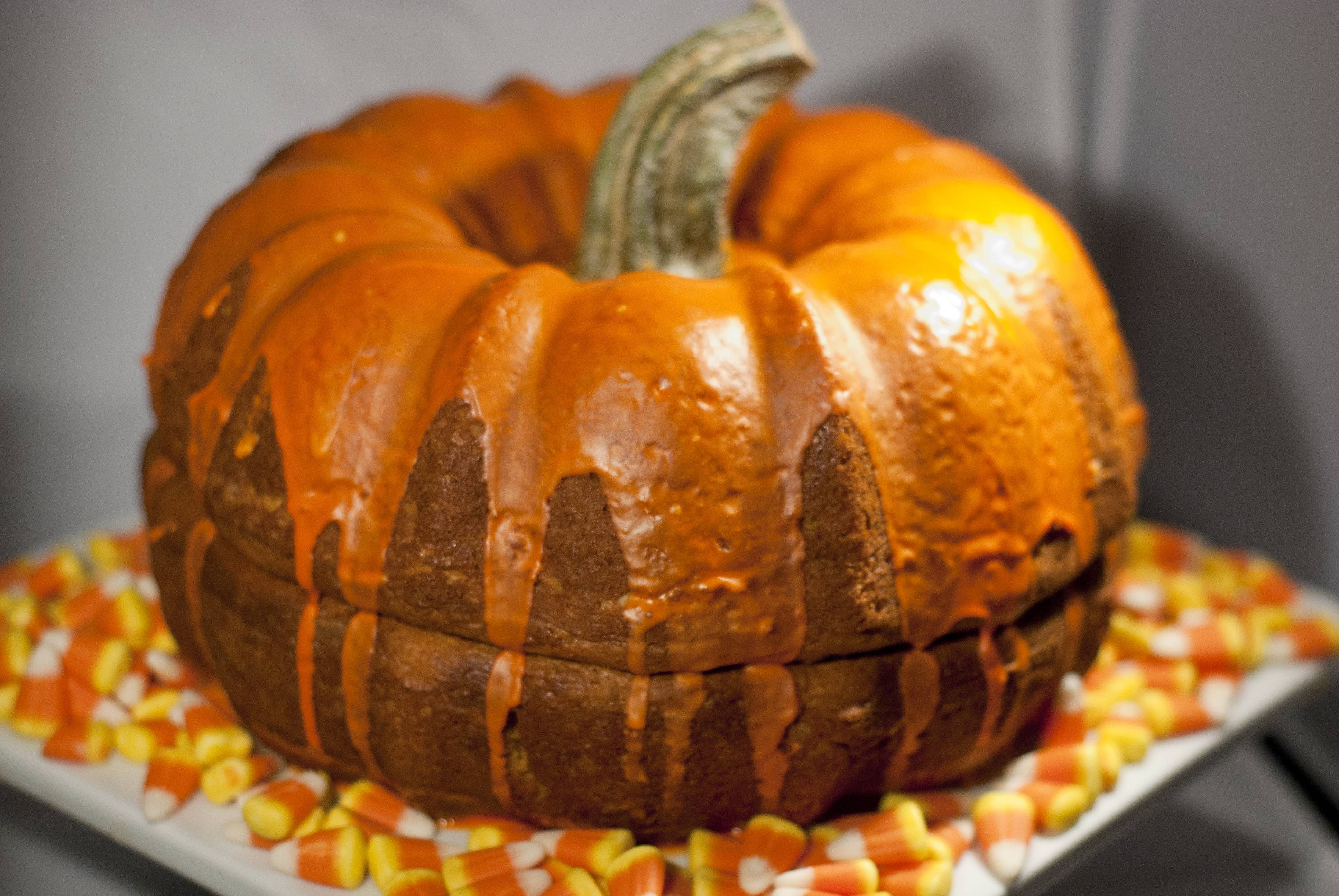 It didn't come out nearly as pretty as the original Pinspiration but, out of the Halloween spirit, this is my pumpkin shaped bundt cake and I am damn proud of it! #pumpkinshapedcake It didn't come out nearly as pretty as the original Pinspiration but, out of the Halloween spirit, this is my pumpkin shaped bundt cake and I am damn proud of it! #pumpkinshapedcake It didn't come out nearly as pretty as the original Pinspiration but, out of the Halloween spirit, this is my pumpkin shaped bundt cake #pumpkinshapedcake