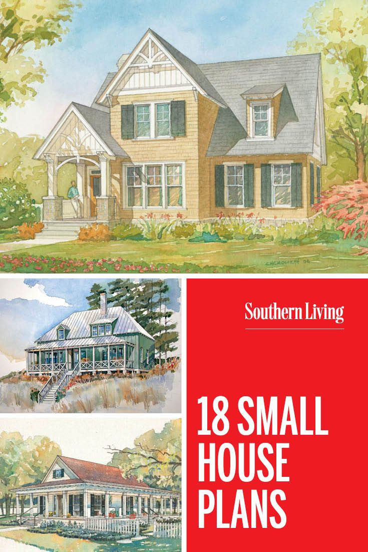30 Small House Plans That Are Just The Right Size Small House Plans House Plans Southern House Plans