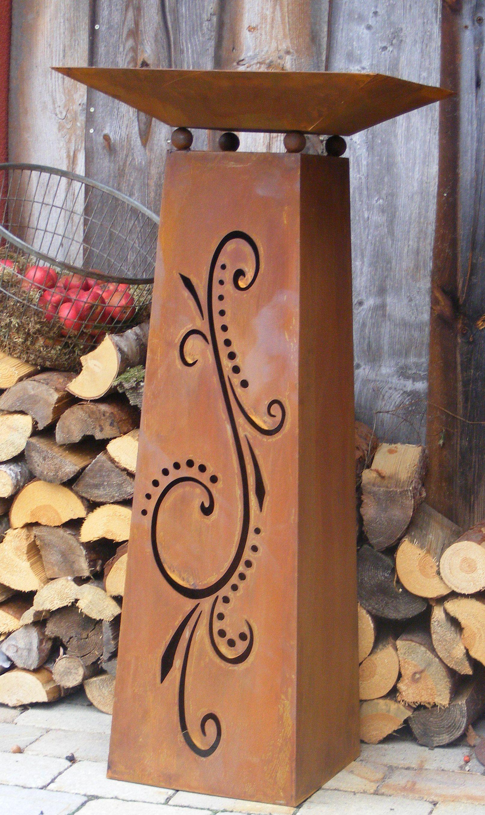 Pin von irene berger auf garden decor pinterest for Rostiges deko