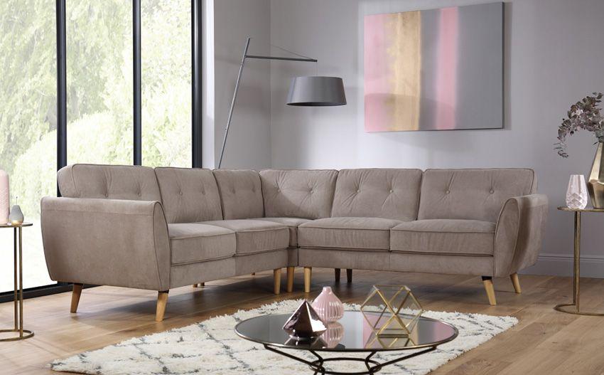 Harlow Beige Fabric Corner Sofa Corner Sofa Grey Fabric Corner Sofa Fabric Sofa