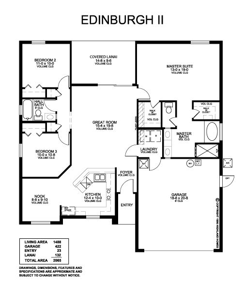 Award Winning Craftsman House Plans: Highland Homes Edinburgh II. Parade Of Homes Award-winning