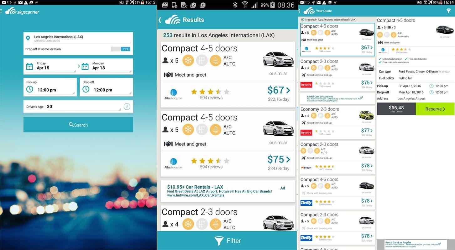 Skyscanner Car Rentals Car Rental Car