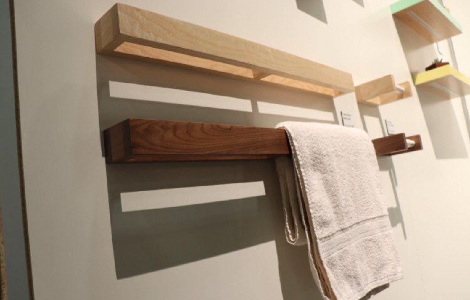 Handtuch Rack Nussbaum Moderne Handtuch Bar Wand Rack