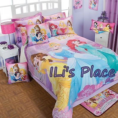 Twin Full And Queen Girls And Teens Disney Princess Softy Comforter Set Disney Princess Toddler Bed Princess Theme Bedroom Disney Princess Room