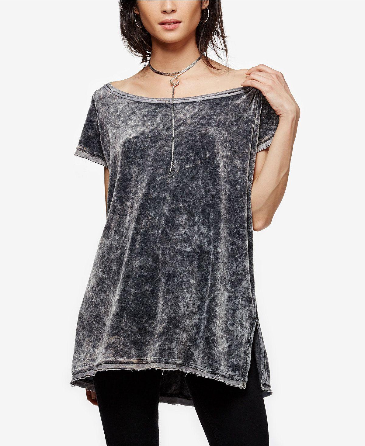 Free People Doran High-Low T-Shirt - Free People - Women - Macy's