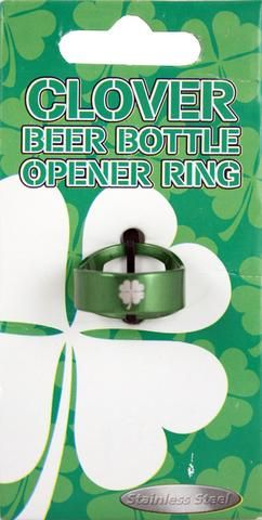 5a56707a5f8be9 Clover Bottle Opener Ring