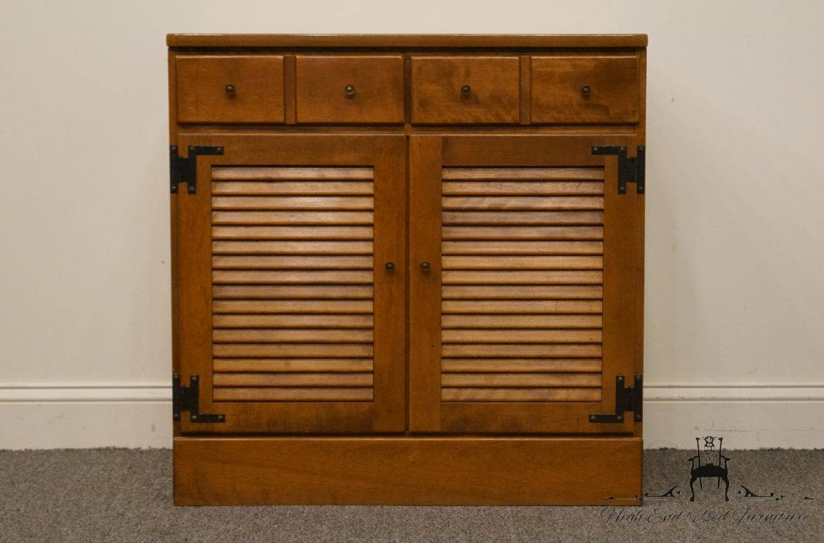 High End Used Furniture | ETHAN ALLEN Heirloom Nutmeg CRP Shutter Door 30″  Cabinet Solid Maple and Birch 10-4511P - High End Used Furniture ETHAN ALLEN Heirloom Nutmeg CRP Shutter