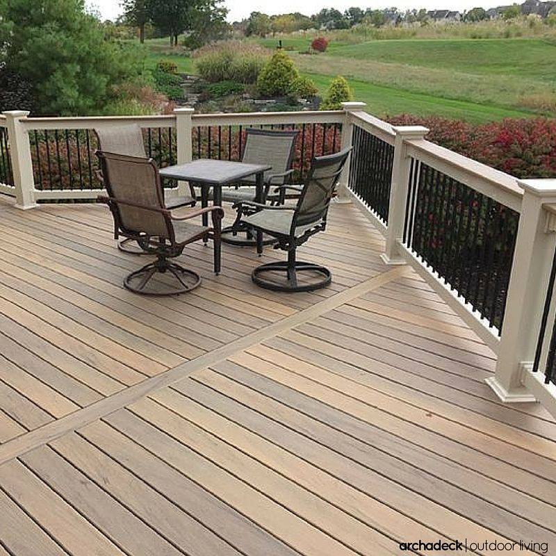 Using Color To Create A Mood For This Dublin Oh Home Trex Deck Cost Deck Cost Deck Prices