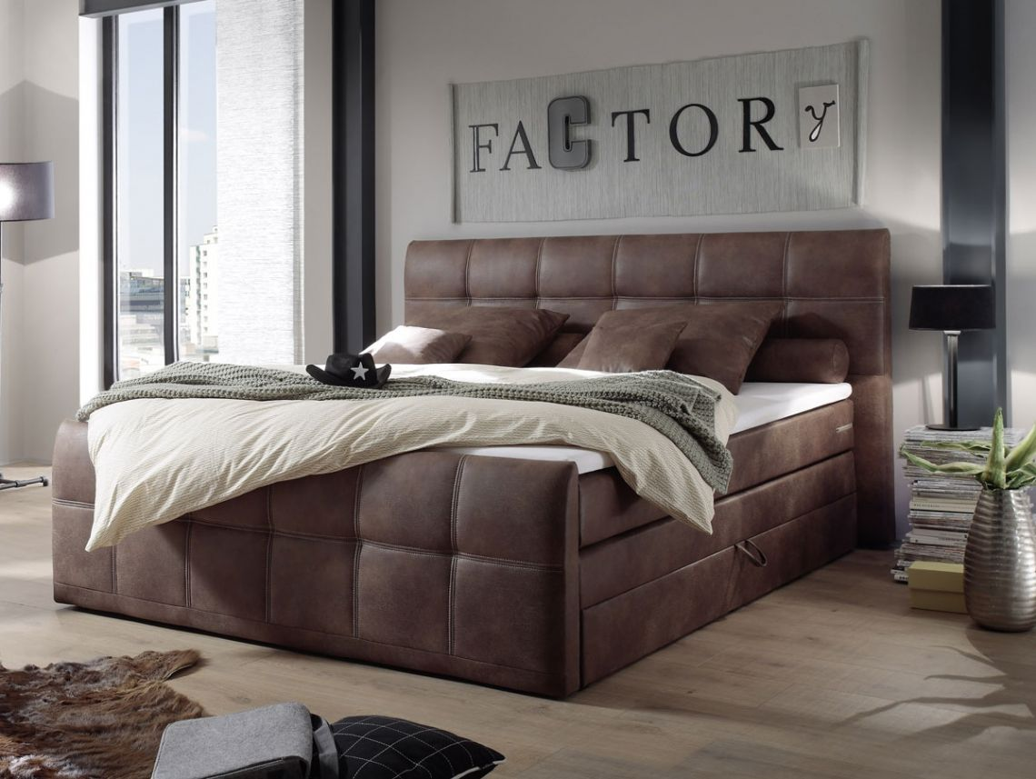 artemis boxspringbett 180x200 cm braun schlafzimmer bett ideen boxspringbett und